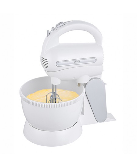 Camry Mixer with a bowl CR 4213 Corded, 300 W, Number of speeds 5, Shaft material Stainless steel, White