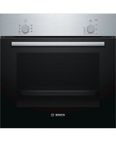 Bosch Oven HBF010BR0S 66 L, Built-in, Rotary knobs, Height 59.5 cm, Width 59.4 cm, Stainless steel/Black