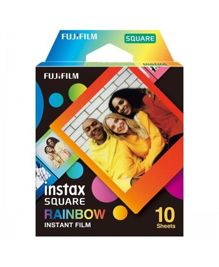 "Fujifilm Instax Square Rainbow (10) Instant Film Quantity 10, 72 x 86 mm, 2.4 x 2.4"" Image Area; 3.4 x 2.8"" Print Size"
