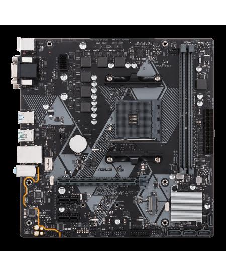 Asus PRIME B450M-K II Memory slots 2, Chipset AMD B, Processor family AMD, Micro ATX, DDR4, Processor socket AM4