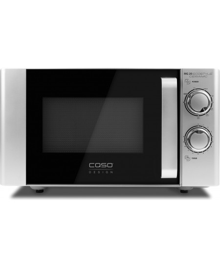 Caso Ecostyle Ceramic 03316 Free standing, Grill,  Intuitive control using rotary knobs, 700 W, Black/Silver, Defrost function