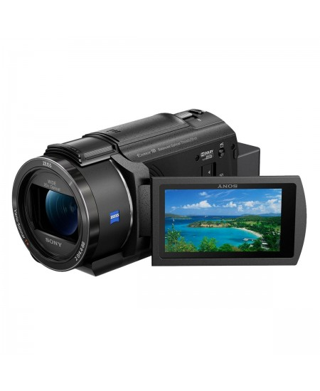 Sony FDR-AX43 3840 x 2160 pixels, Digital zoom 250 x, Black, Wi-Fi, LCD pixels, Image stabilizer, BIONZ X, Optical zoom 20 x, 2.