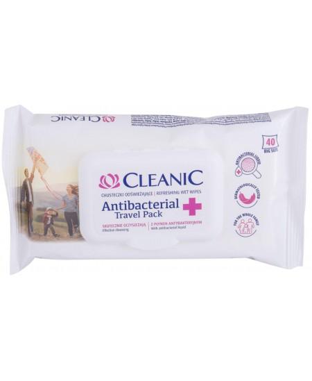 Drėgnos antibakterinės servetėlės CLEANIC, 40 vnt.