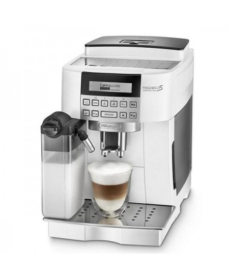 Delonghi Coffee maker ECAM 22.360.W Pump pressure 15 bar, Built-in milk frother, Fully automatic, 1450 W, White
