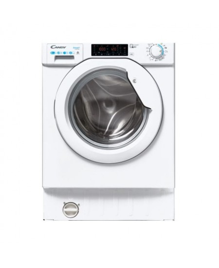 Candy Washing Machine with Dryer CBDO485TWME/1-S Front loading, Washing capacity 8 kg, Drying capacity 5 kg, 1400 RPM, A, Depth