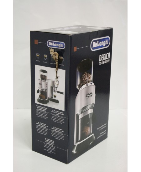 SALE OUT. Delonghi Coffee Grinder  KG520M DEDICA 150 W, Coffee beans capacity 350 g, Number of cups 14 pc(s), Inox/ black, DAMAG