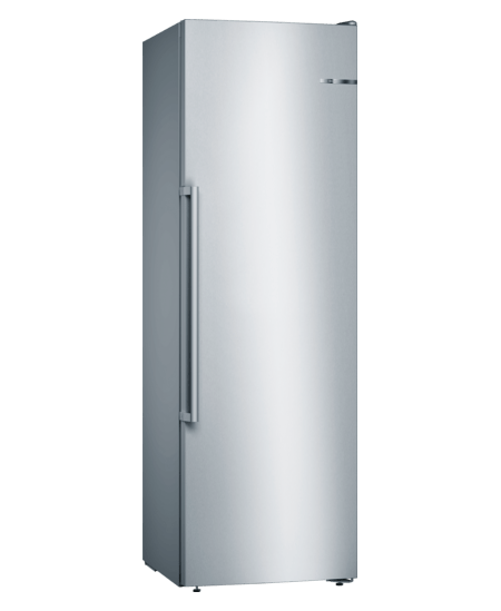 Bosch Freezer GSN36AIEP A++, Free standing, Upright, Height 186 cm, No Frost system, Display, 39 dB, Stainless steel