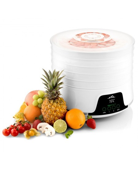 ETA Brisa Food Dehydrator ETA130290000 White, 500 W, Number of trays 5, Temperature control, Integrated timer