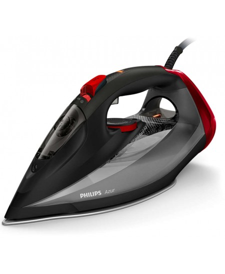 Philips Iron Azur GC4567/80 Steam Iron, 2600 W, Continuous steam 50 g/min, Steam boost performance 250 g/min, Black/Red