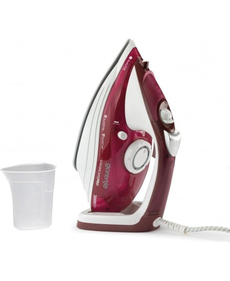Gorenje Steam Iron SIH3000RBC Steam Iron, 3000 W, Water tank capacity 350 ml, Continuous steam 40 g/min, Red/White