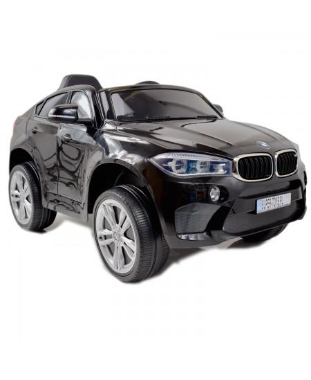 Elektromobilis vaikams BMW X6M 2199 su nuotolinio valdymo pultu, juodas