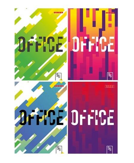 Kontorinė knyga OFFICE A4, 96 lapai, langeliais, kartoninė