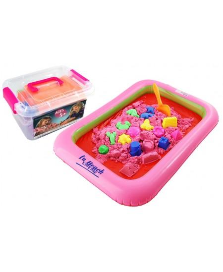 Kinetinis smėlis dėžėje su formelėmis, 2 kg