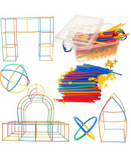 Konstruktorius vaikams iš šiaudelių, 400 dalių