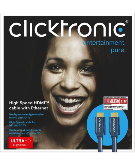 Clicktronic 70303 High Speed HDMI™ cable with Ethernet, 2 m Clicktronic