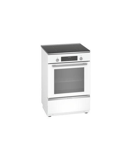 Bosch Cooker HLT59E020U Hob type Induction, Oven type Electric, White, Width 60 cm, Electronic ignition, Grilling, LCD, 66 L, De