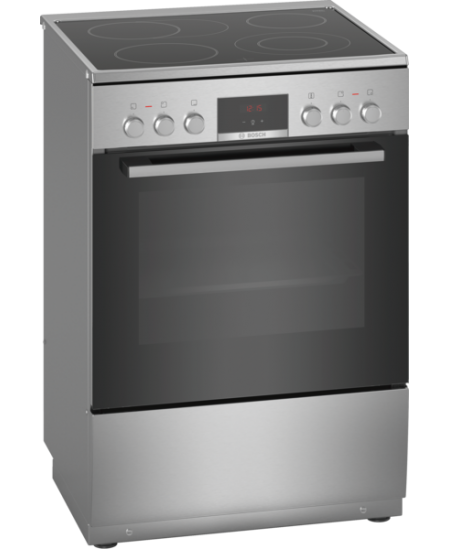 Bosch Cooker HKR39A250U Hob type Electric, Oven type Electric, Stainless steel, Width 60 cm, Electronic ignition, Grilling, LED,