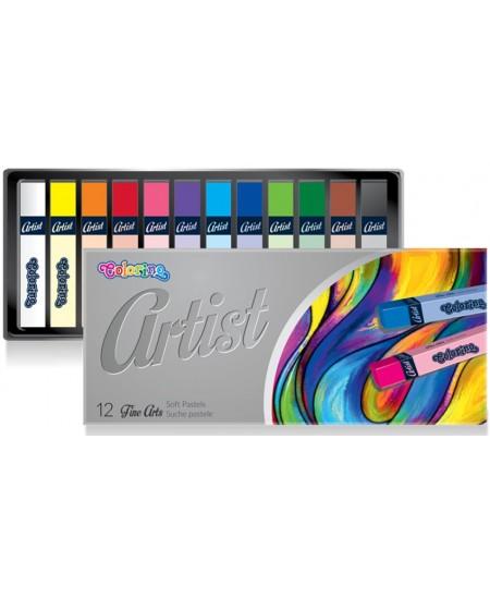 Pastelės COLORINO Artist, 12 spalvų