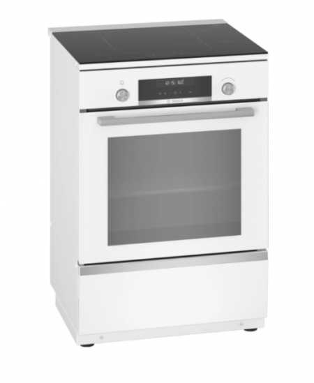 Bosch Cooker HLS79W320U Integrated timer, Hob type Induction, Oven type Electric, White, Width 60 cm, Electronic ignition, Grill