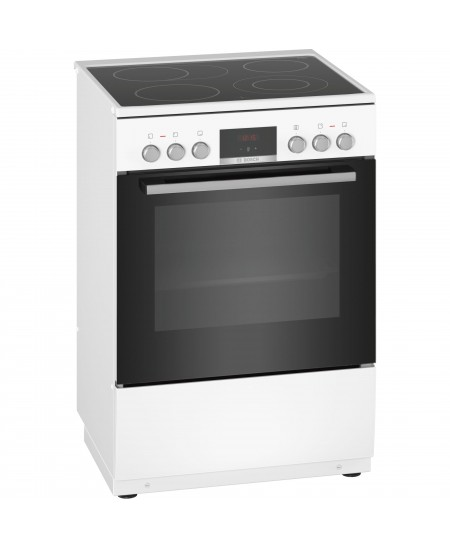 Bosch Cooker HKR39A220U Hob type Electric, Oven type Electric, White, Width 60 cm, Electronic ignition, Grilling, Digital, 66 L,