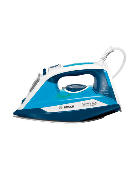 Bosch Steam Iron TDA3024210 2400 W, Water tank capacity 320 ml, Continuous steam 40 g/min, Steam boost performance 150 g/min, Bl