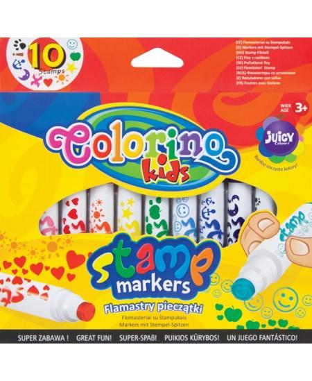 Antspaudukų rinkinys COLORINO, 10 spalvų