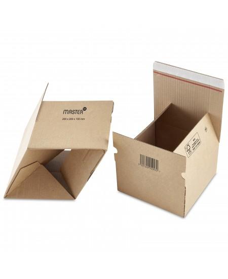 Siuntų dėžė su lipnia juostele, 200 x 200 x 100 mm, rudos spalvos, 1 vnt.