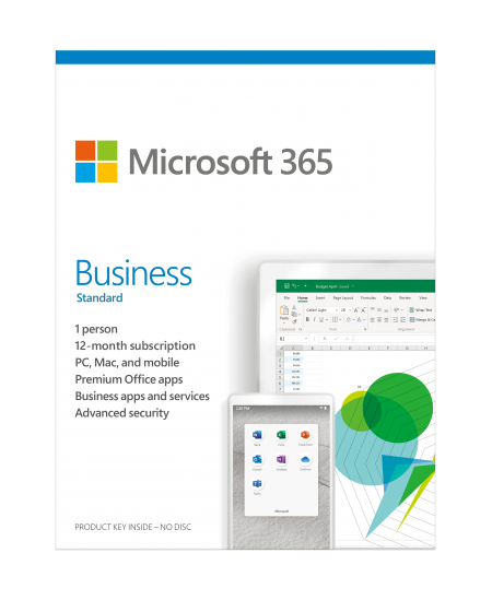 Microsoft 365 Business Standard KLQ-00462 License term 1 year(s), Estonian, Medialess, P6
