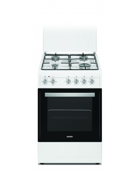 Simfer Cooker 4403SERBB Hob type Gas, Oven type Electric, White, Width 50 cm, Electronic ignition, 48 L, Depth 55 cm, A