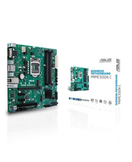 Asus PRIME B360M-C Processor family Intel, Processor socket LGA1151, DDR4, Memory slots 4, Chipset Intel B, Micro ATX