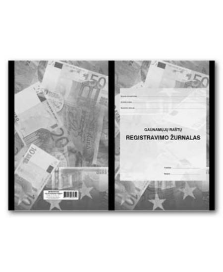Gautų dokumentų registras A4, 40 lapų