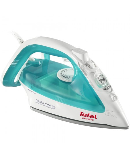 TEFAL Easygliss Iron FV3951E0 Blue/ white, 2400 W, Steam iron, Continuous steam 35 g/min, Steam boost performance 120 g/min, Ant