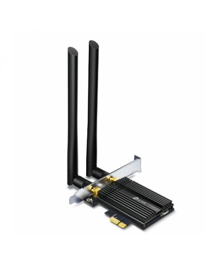 Dual Band TP-LINK Archer Wi-Fi 6 Bluetooth 5.0 PCIe Adapter TX50E 2.4GHz/5GHz, Antenna type 2xExternal, 574+2402 Mbit/s