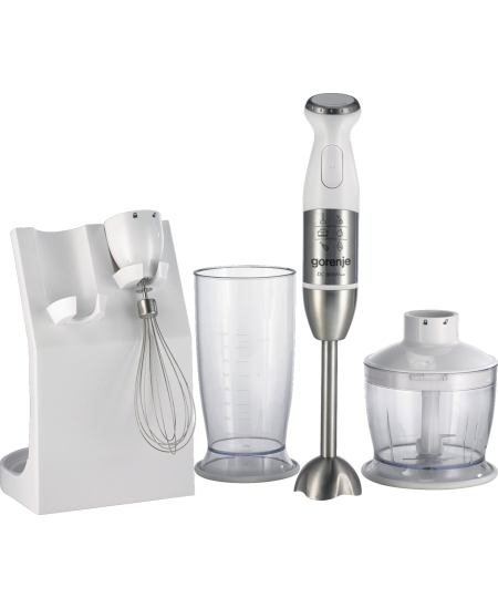 Gorenje Blender HBC806QW 800 W, Hand Blender, Material jar(s) Plastic, 0.5 L, Mini chopper, White