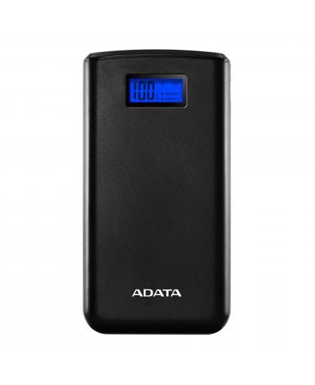 ADATA Power bank AS20000D 20000 mAh, Dual USB, Black