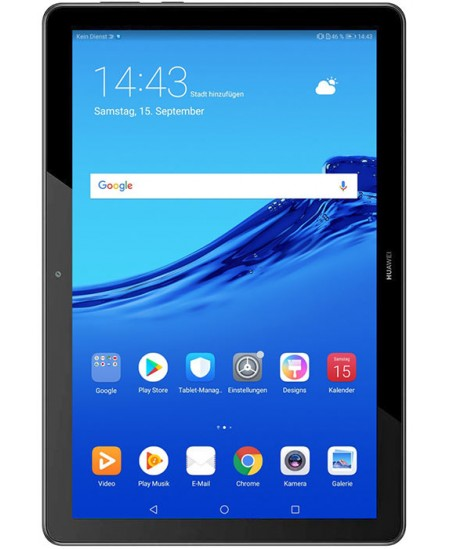 "Huawei MediaPad T5 10.1 "", Black, IPS LCD, 1920 x 1200, HiSilicon Kirin 659, 3 GB, 32 GB, Wi-Fi, Front camera, 2 MP, Rear c"