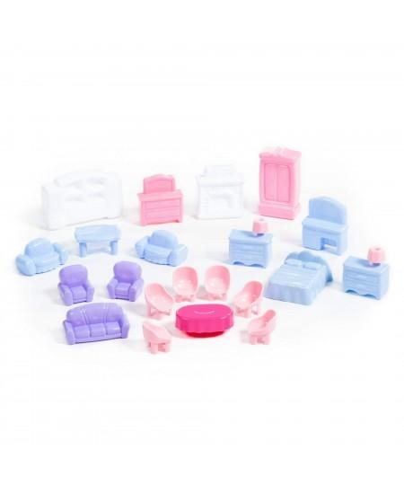 Lėlių baldų kompletas (21 elementas)