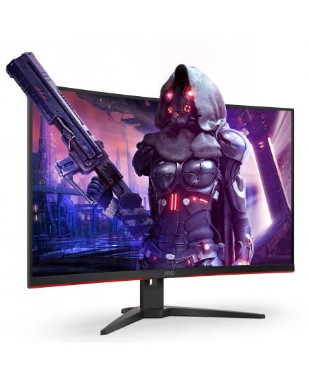 """AOC Curved Gaming Monitor CQ32G2SE 31.5 """", VA, QHD, 2560 x 1440, 16:9, 1 ms, 250 cd/m², Black/Red"""