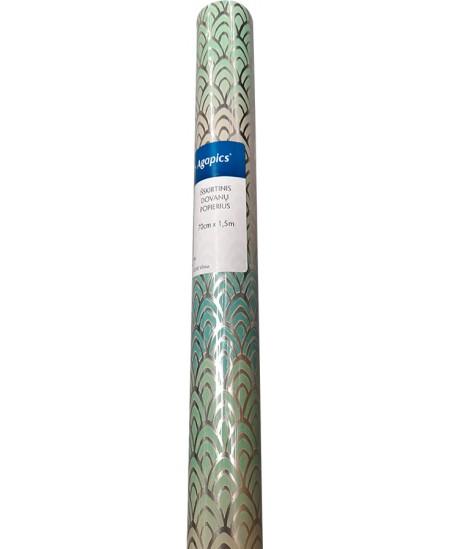 Išskirtinis dovanų pakavimo popierius, blizgus, 70 cm x 1,5 m
