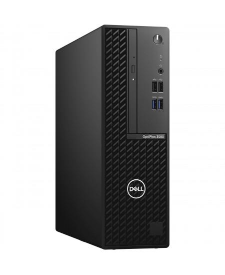 Dell OptiPlex 3080 Desktop, SFF, Intel Core i3, i3-10100, Internal memory 8 GB, DDR4, SSD 256 GB, Intel HD, 8x DVD+/-RW 9.5mm Op