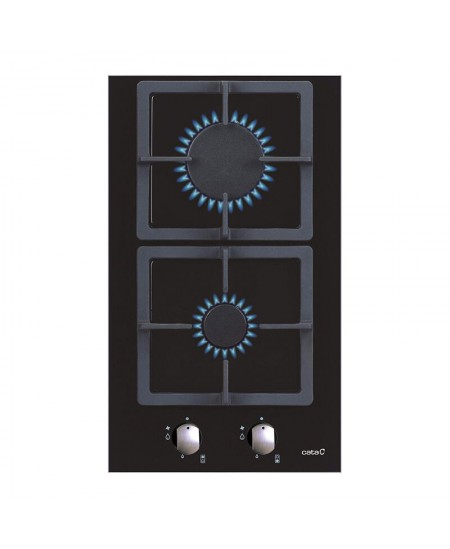 CATA Hob SCI 3002 BK Gas, Number of burners/cooking zones 2, Mechanical, Black