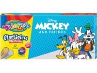 """Plastilinas COLORINO Disney """"Peliukas Mikis"""", 12 spalvų + auksinė ir sidabrinė"""