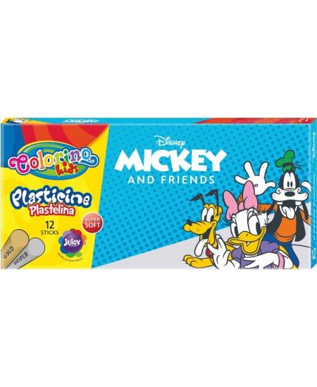 """Plastilinas COLORINO Disney \""""Peliukas Mikis\"""", 12 spalvų + auksinė ir sidabrinė"""