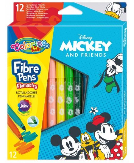 """Flomasteriai COLORINO Disney \""""Peliukas Mikis\"""", 12 spalvų"""