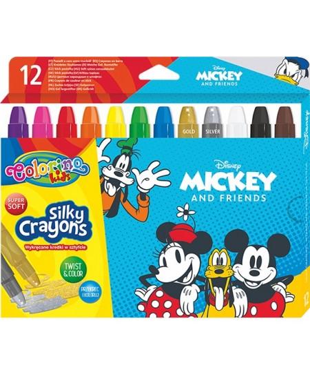 """Kreidelės COLORINO Disney \""""Peliukas Mikis\"""", 12 spalvų"""