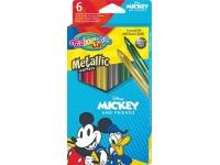"""Blizgūs flomasteriai COLORINO Disney """"Peliukas Mikis"""", 6 spalvos"""