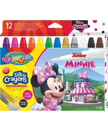 """Kreidelės COLORINO Disney \""""Pelytė Minė\"""", 12 spalvų"""