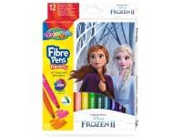 """Flomasteriai COLORINO Disney """"Ledo šalis"""", 12 spalvų"""