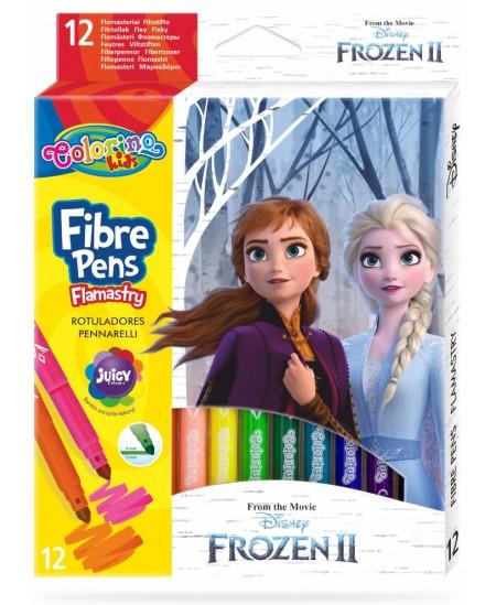 """Flomasteriai COLORINO Disney \""""Ledo šalis\"""", 12 spalvų"""
