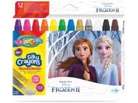 """Šilkinės kreidelės COLORINO Disney """"Ledo šalis"""", išsukamos, 12 spalvų"""